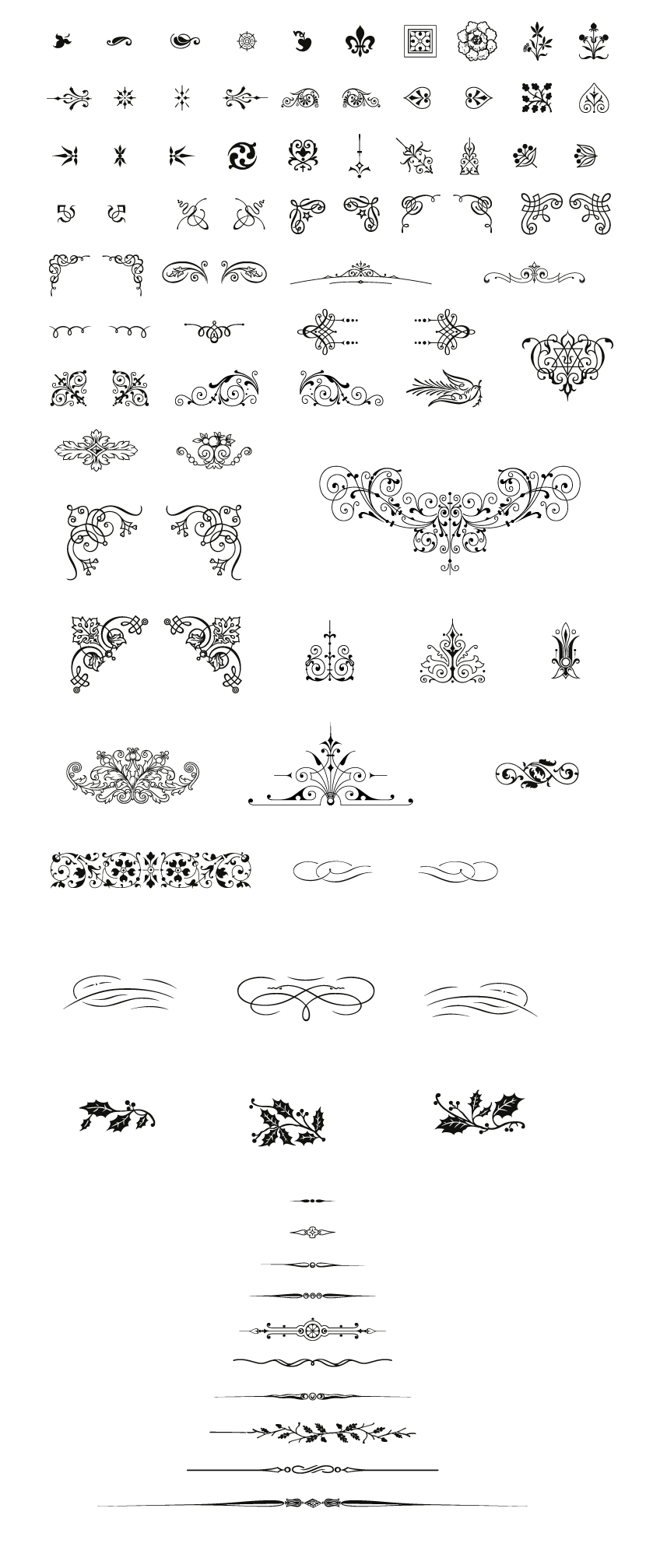 Free Vintage Vector Pack, 85 Vector Decorative Ornaments included ...