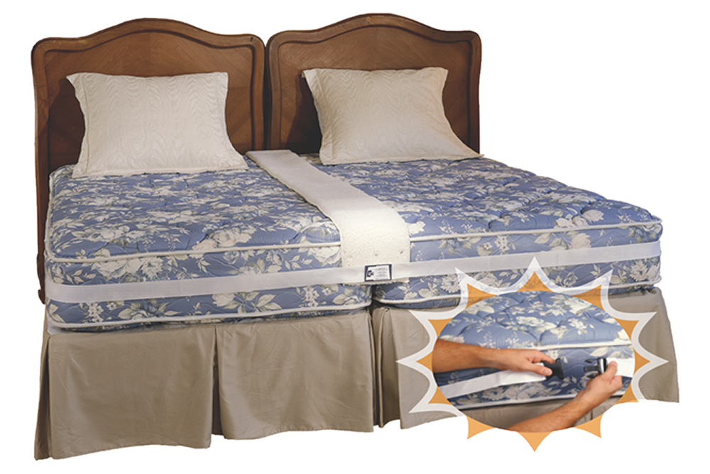 Easy King Bed Doubler Two twin beds, Bed, King beds