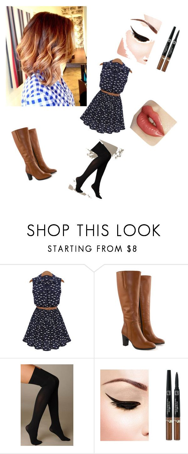 """Untitled #230"" by sodapop-999 ❤ liked on Polyvore featuring Jilsen Quality Boots and Hue"
