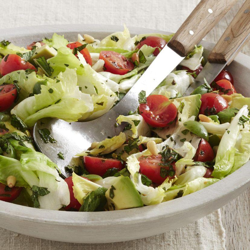 Tomato Avocado And Escarole Salad Recipe Food Network Recipes Escarole Recipes Giada De Laurentiis Recipes