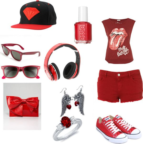 """""""red or dead"""" by jaidahull ❤ liked on Polyvore"""