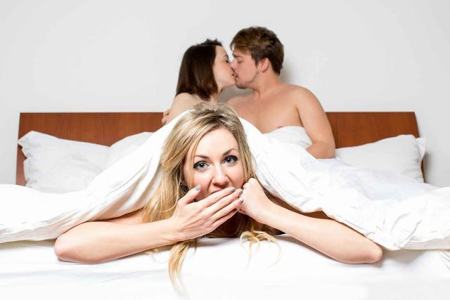 Wife Watches Husband With Another Woman
