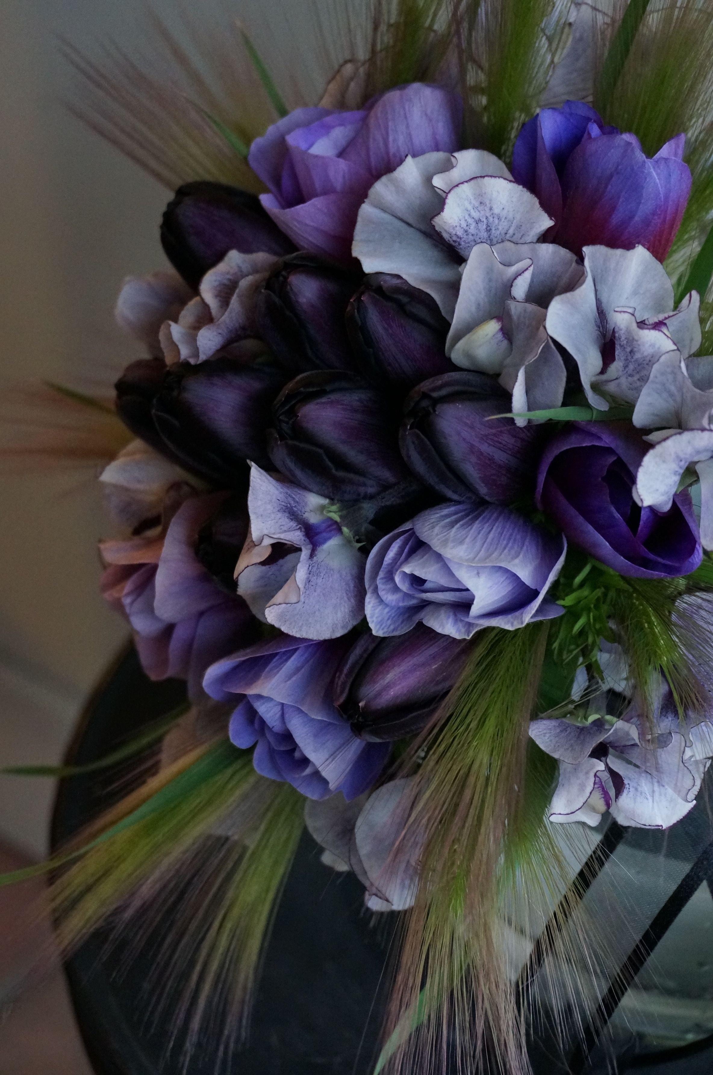 tulip,anemone and sweet pea