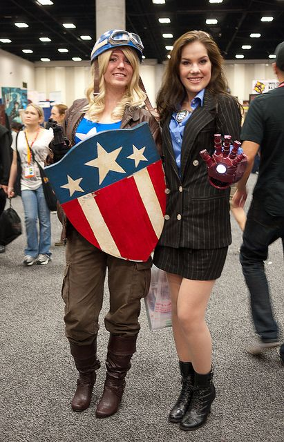 captain america stark girl
