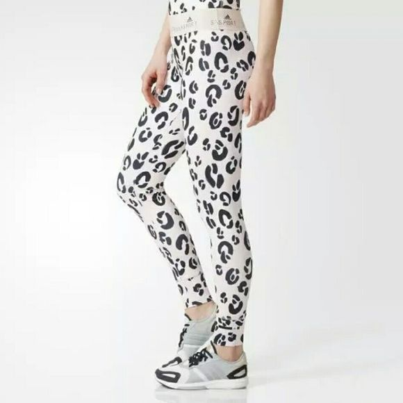 f03b68cdeebed Leopard Print Stellasport Adidas Leggings  Ultra popular Adidas Stella  McCartney Leopard gym leggings tights size M 12-14.....sold out everywhere!