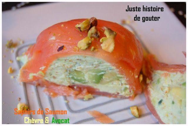 Juste histoire de goûter: Saphirs de Saumon, Chèvre & Avocat