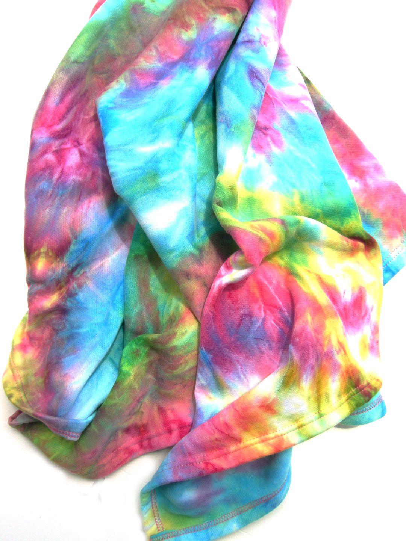 Supersoft tie dye throw blanket just buy a plain fleece blanket