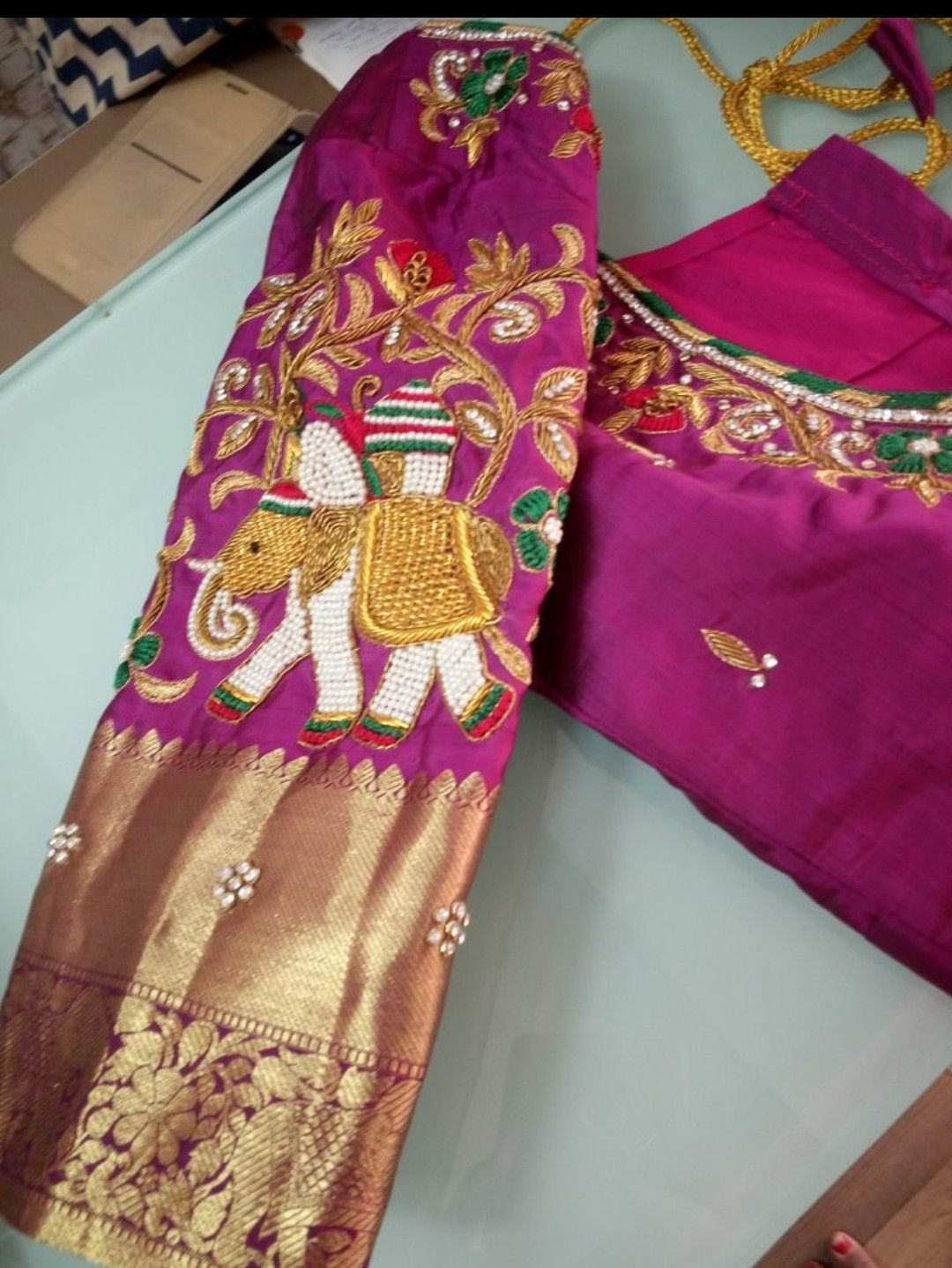 Silk saree blouse designs without embroidery bridal work blouse  blouses  pinterest  blouse designs saree and