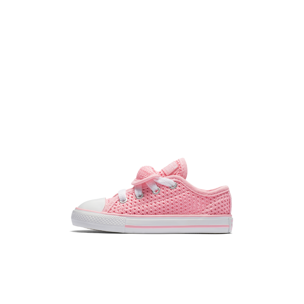 ce07e80fccb Converse Chuck Taylor All Star Double Tongue Crochet Low Top Infant Toddler  Shoe Size 2C (Pink)