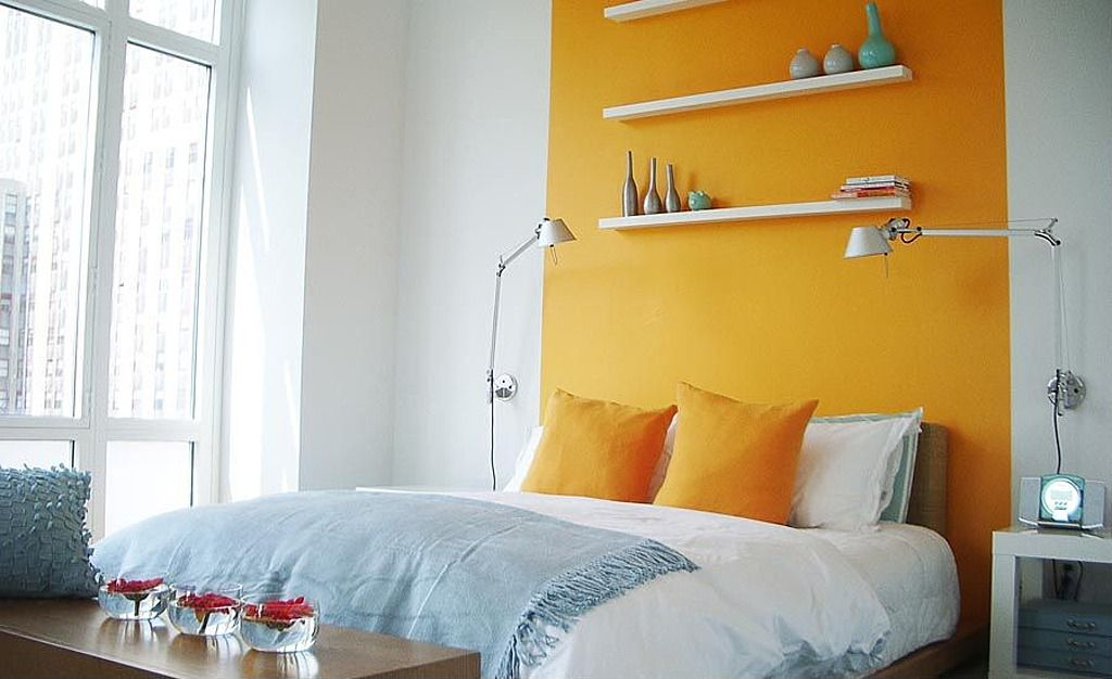 Minimalist and Clean Small Bedroom Design for Boy with Two Tone Wall ...