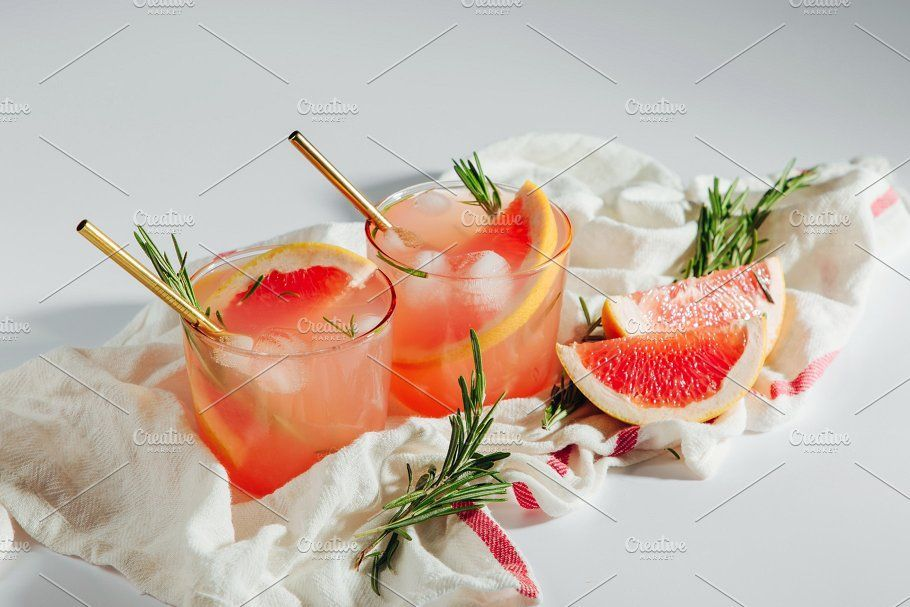 Homemade Grapefruit Cocktail by Businka on @creativemarket #grapefruitcocktail Homemade Grapefruit Cocktail by Businka on @creativemarket #grapefruitcocktail