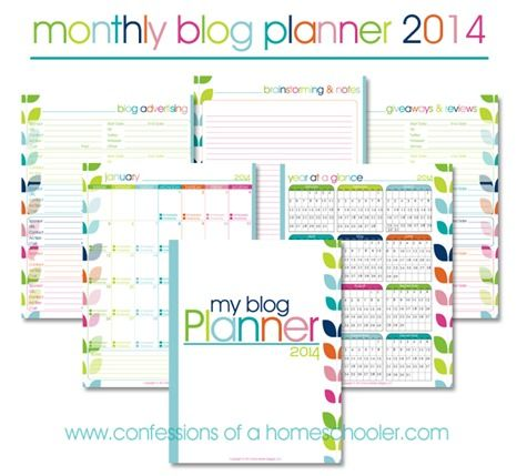 Confessions of a Homeschool made this wonderful Blog Planner It\u0027s