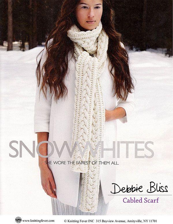 Patron Gratuit - Cabled Scarf de Debbie Bliss | Tricoti tricota ...