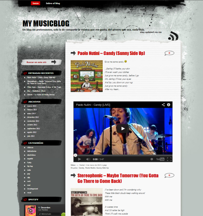 Tema WordPress ideal para Blogs de Música | Plantillas WordPress ...
