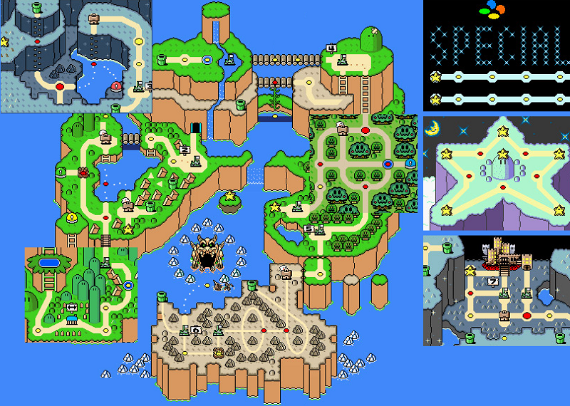 Super mario world overworld map this will be its own bunch of super mario world overworld map this will be its own bunch of islands below the gumiabroncs Gallery