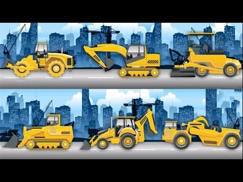 Excavator For Children Cartoon Backhoe Operator Drive Stuff Done Truck And Diggers Cartoons For Kids Cartoon Kids Cartoon Animation