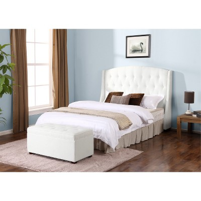 Roma Tufted End Of Bed Storage Ottoman Oyster Dorel