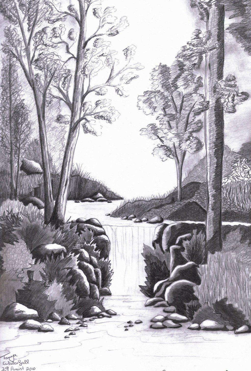5807ac58b00228c9e0522efd95c4e040 » Realistic Pencil Waterfall