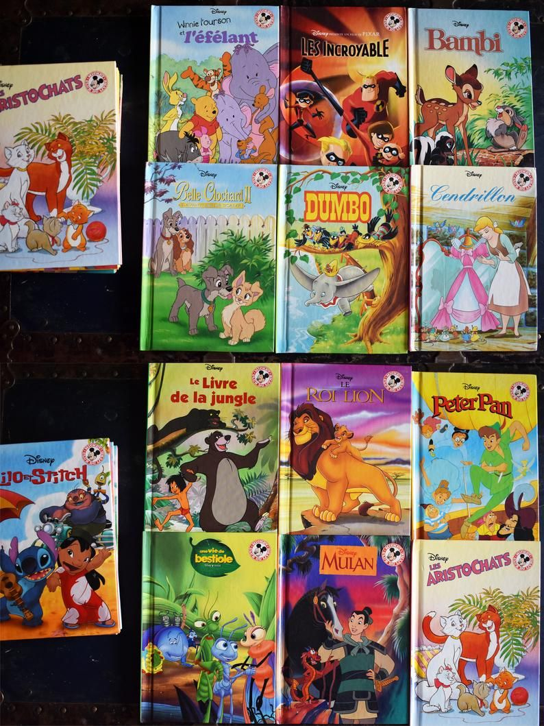 Vintage Walt Disney Childrens Books Set Of 20 Hardcovers