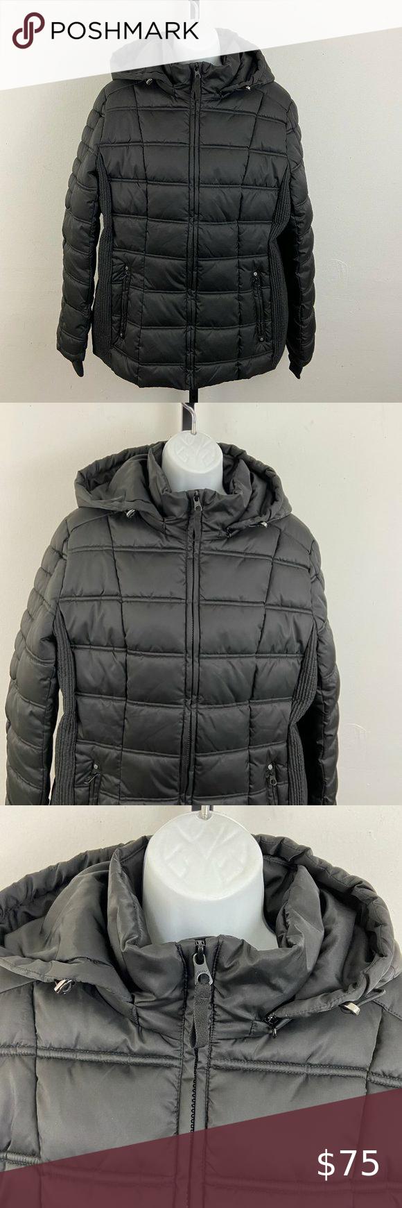 Nautica Black Water Resistant Puffer Coat Jacket Puffer Coat Jacket Brands Jackets [ 1740 x 580 Pixel ]