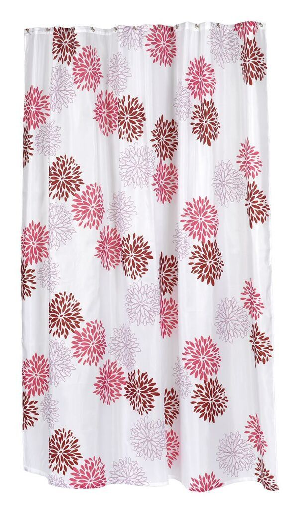 Bodacious Blooms Fabric Shower Curtain in 2 Sizes