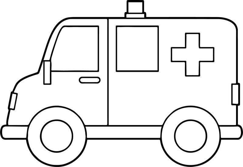 Side Ambulance Coloring Page Coloring Pages To Print Monster Truck Coloring Pages Barbie Coloring Pages