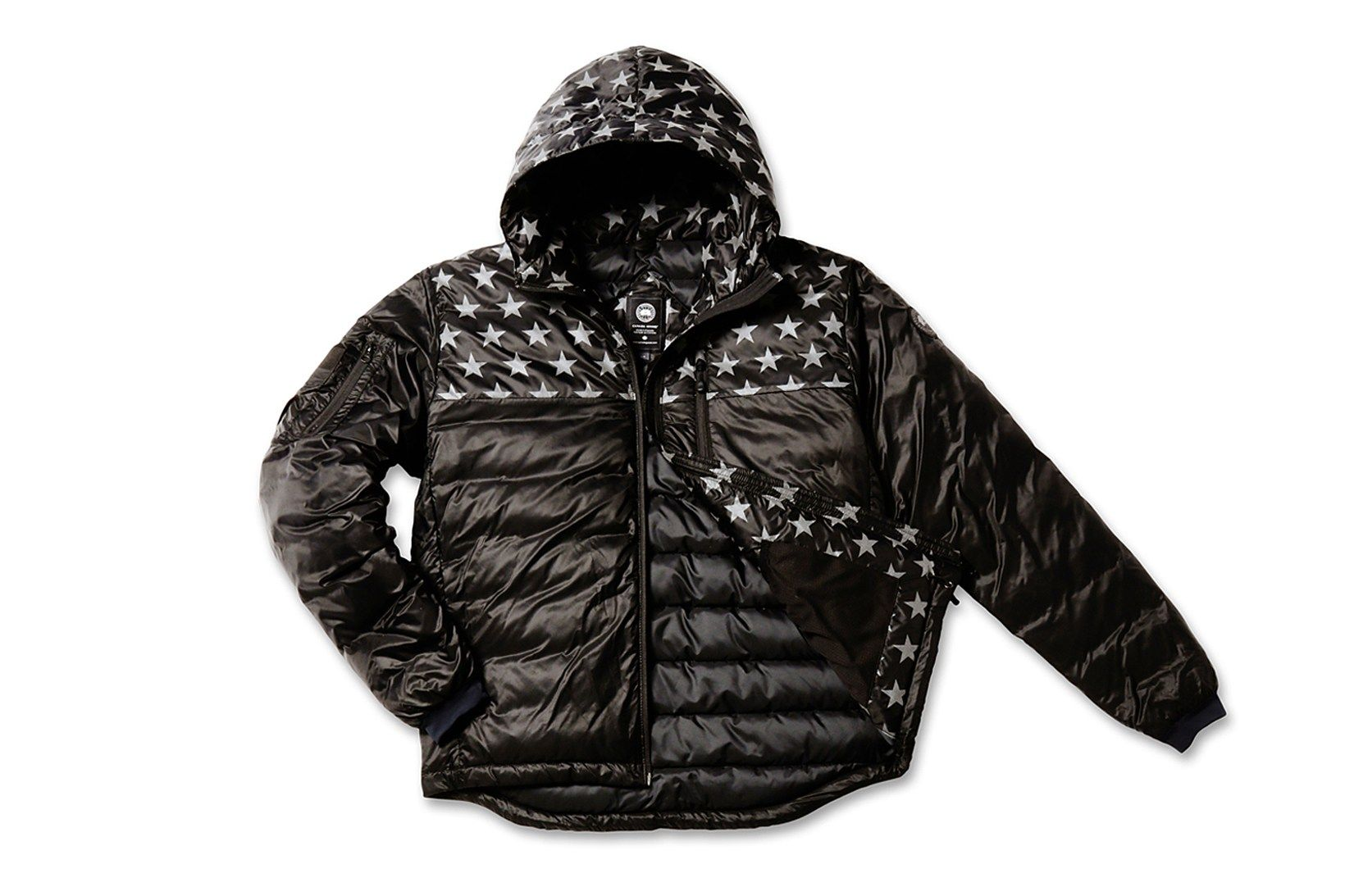 Canada Goose S Crawford Hoody Brings The Stars And Stripes Up North Mens Parka Hoodies Winter Jackets