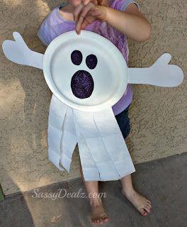DIY Ghost Paper Plate Kid\u0027s Craft #Halloween craft for kids | CraftyMorning.com & DIY: Ghost Paper Plate Kid\u0027s Craft #Halloween craft for kids ...