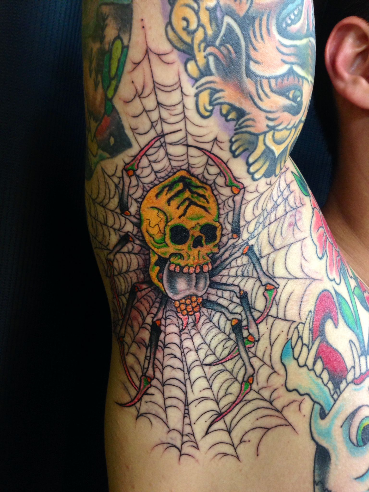 Armpit tattoo by christian lain of pinnacle tattoo in for Tattoo corpus christi