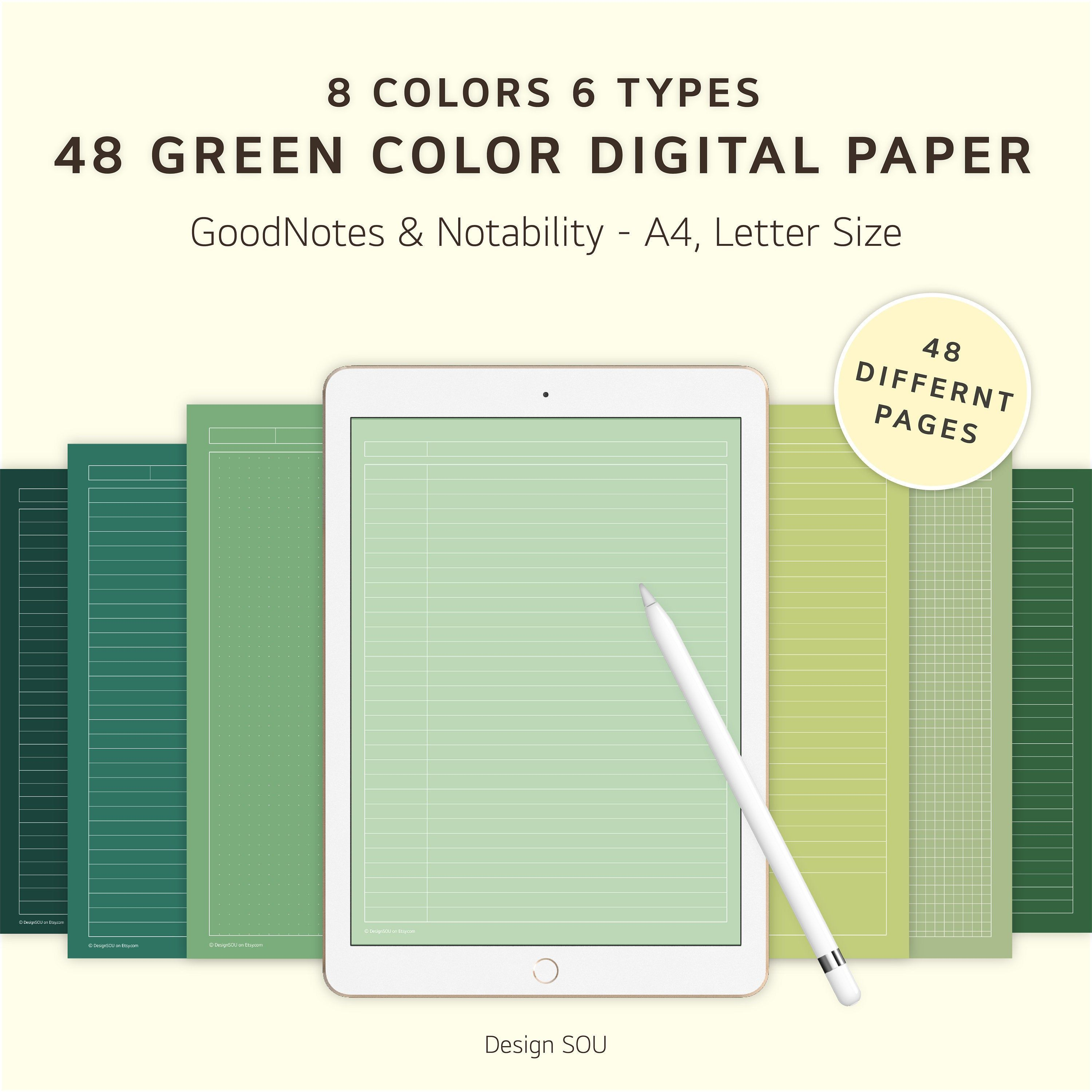 48 Green Digital Note Taking Paper With White Line A4 Etsy In 2021 Digital Notebooks Notes Planner Note Taking