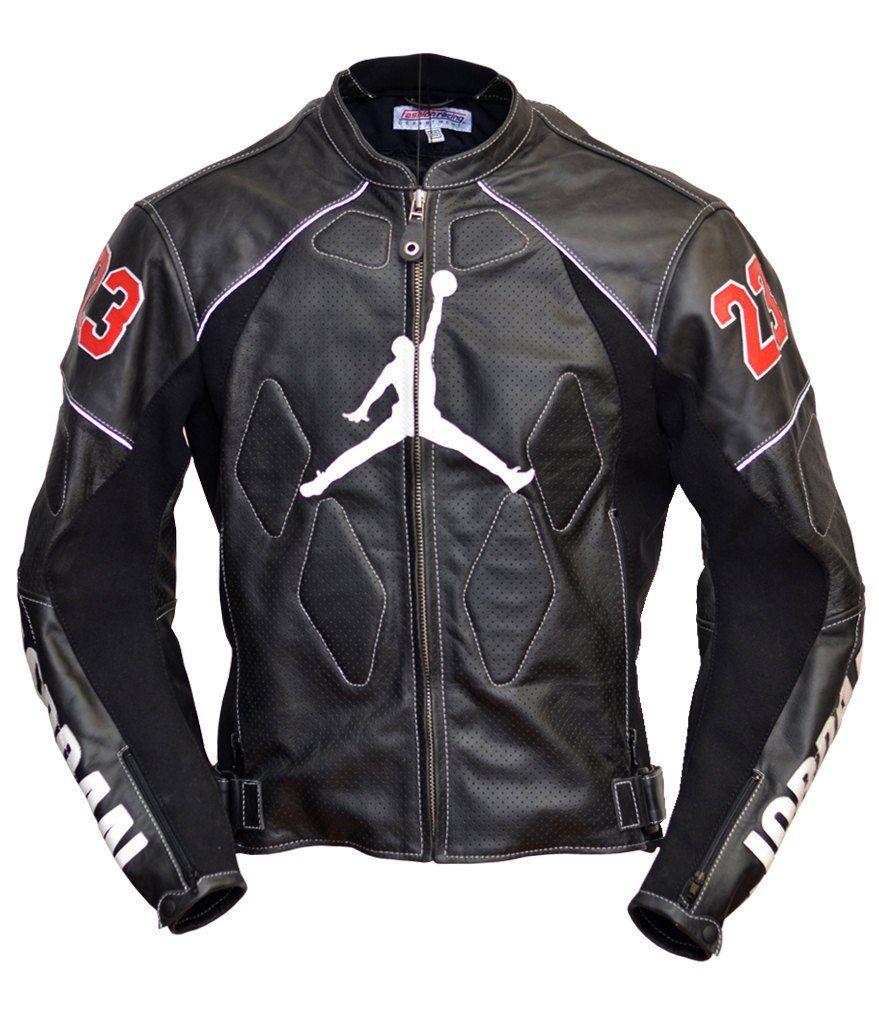 brand new cfba1 274e8 JORDAN leather jacket, leather motorbike jacket, leather motorcycle jacket  made to measure  FashionRacing ✂️