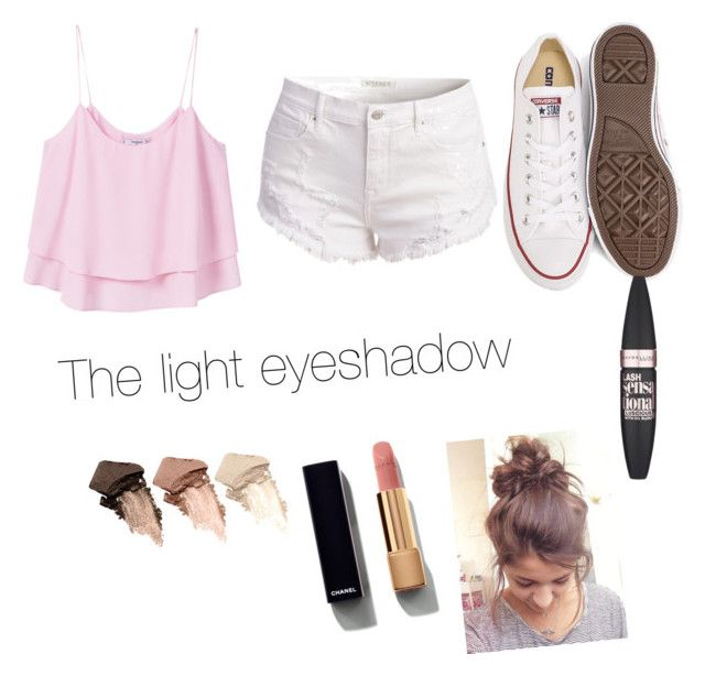 """""""Light"""" by ellaschaeffer31 on Polyvore featuring beauty, MANGO, Converse, Urban Decay, Chanel and Maybelline"""