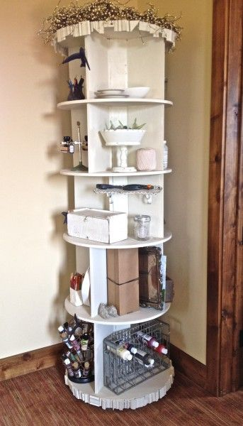 Quot Pottery Barn Quot Revolving Bookcase How To Creative