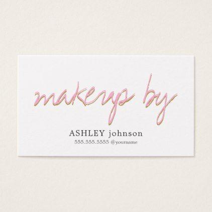 Modern elegant cool fonts rose white makeup business card makeup makeup business cards reheart Choice Image
