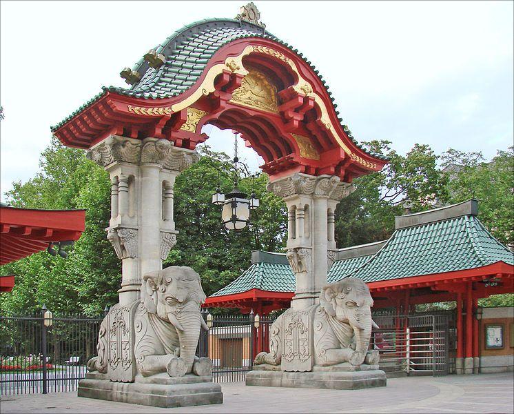 Berlin Zoo Elephant Gate Garten Berlin Zoologischer Garten Berlin