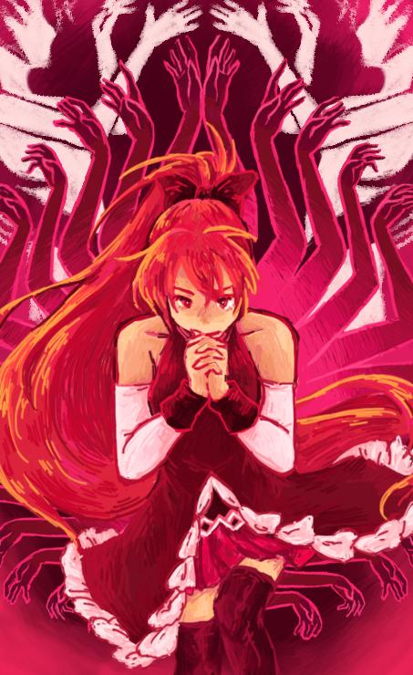 Sakura Kyoko - Puella Magi Madoka Magica by HitodeKyun.deviantart ...