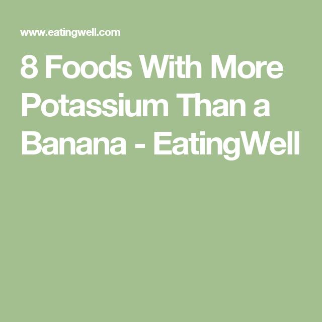 foods a 8 foods with more potassium