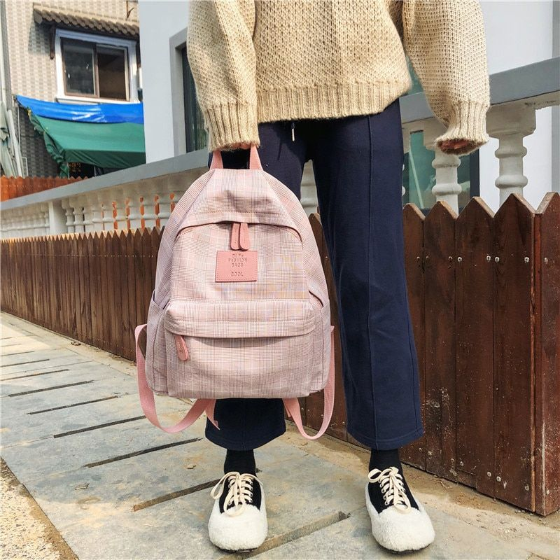 Photo of Fashion Women Backpack for School Teenagers Girls Stylish School Bags Ladies Travel Backpack Female