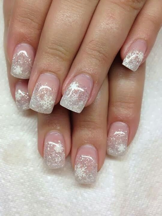 Glittersnowflakes so beautiful pinterest more than hundred different kinds of glitter acrylic nail designs for this winter are interesting and wonderful acrylic nails are created of a liquid and a prinsesfo Images