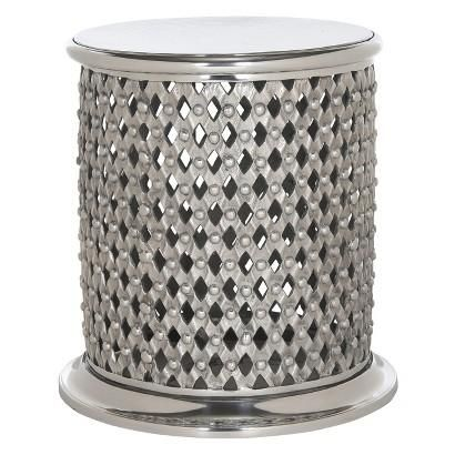 Safavieh Silver Accent Table Table Stool Lace Table Metal