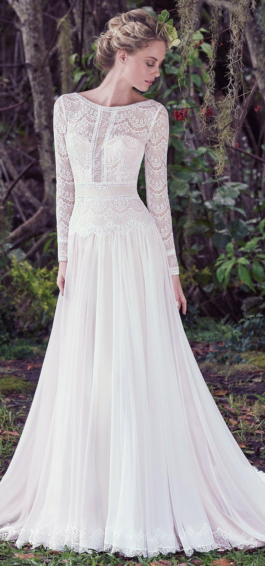 Maggie sottero wedding dresses bateau neckline neckline and bohemian