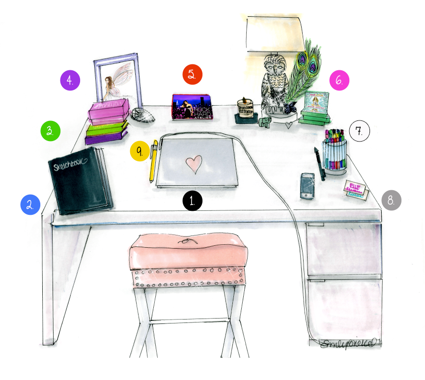 Good Office Table Feng Shui TH19