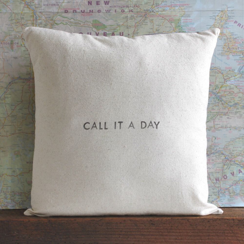 saying pillow cover // \