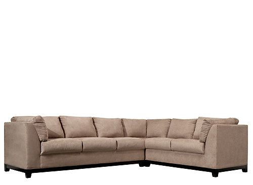 This Contemporary Kathy Ireland Home Wellsley 3 Piece Microfiber Sectional Sofa Features Mocha Color Microfiber Sectional Sofa Sectional Sofa Family Room Couch
