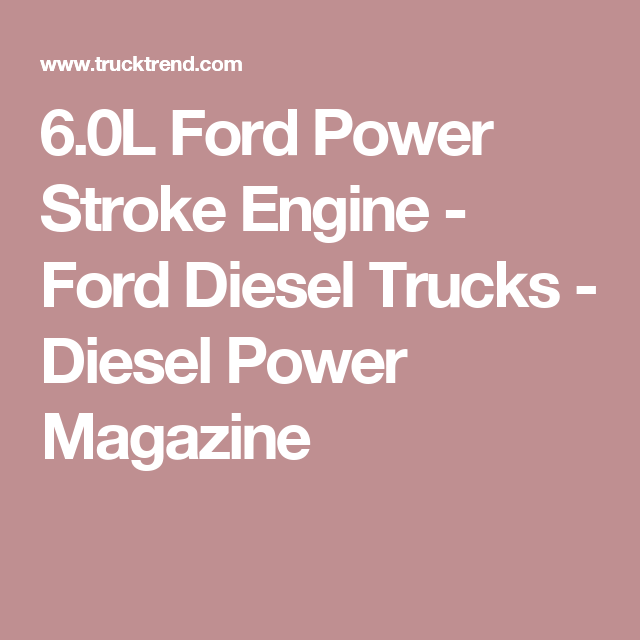 60l ford power stroke engine ford diesel trucks diesel power 60l ford power stroke engine ford diesel trucks diesel power magazine fandeluxe Choice Image