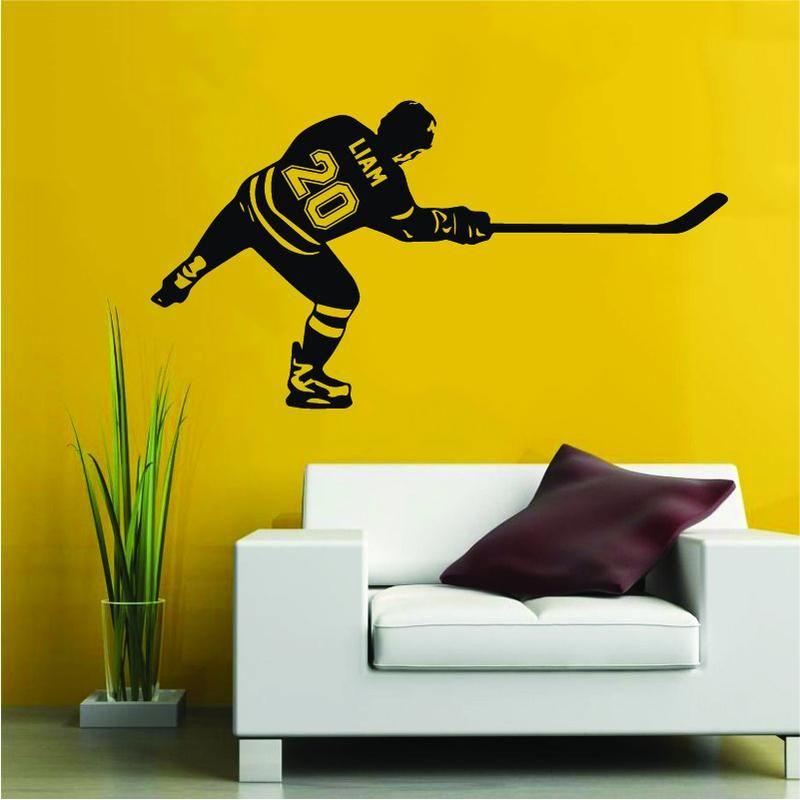 Hockey Player After Shot Wall Sticker Decals In 2020 Baseball Wall Decal Hockey Players Hockey