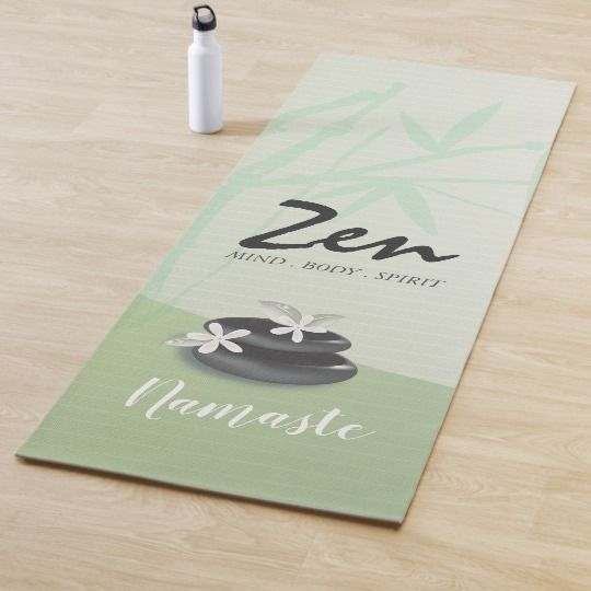 Zen Stone Bamboo Yoga Studio Meditation Instructor Yoga Mat Yoga