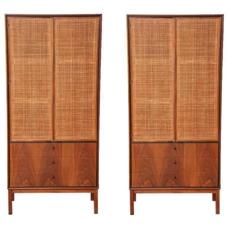 Knoll Matched Pair Of Caned Cabinets Circa 1950s From A Unique Collection Of Antique And Modern Cabinets At Https Www 1 Vintage Cabinets Cabinet Furniture