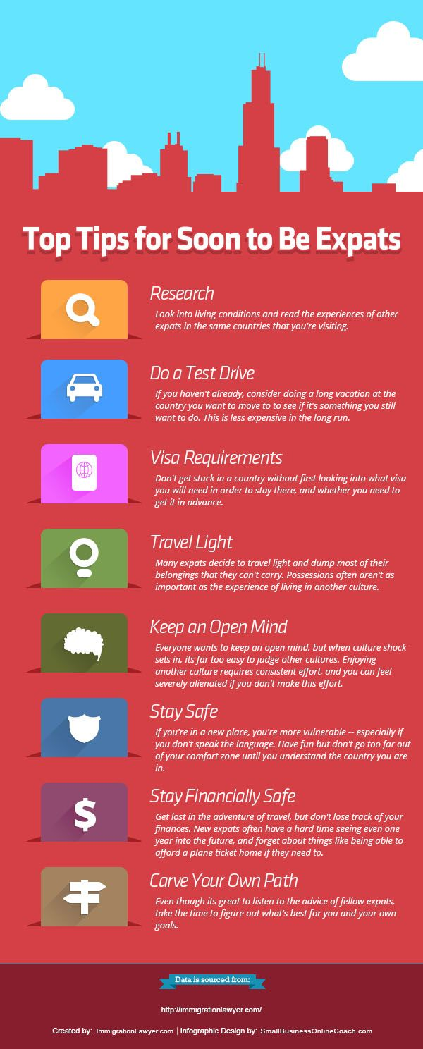 Top Tips For Soon To Be Expats Infographic Expat Moving