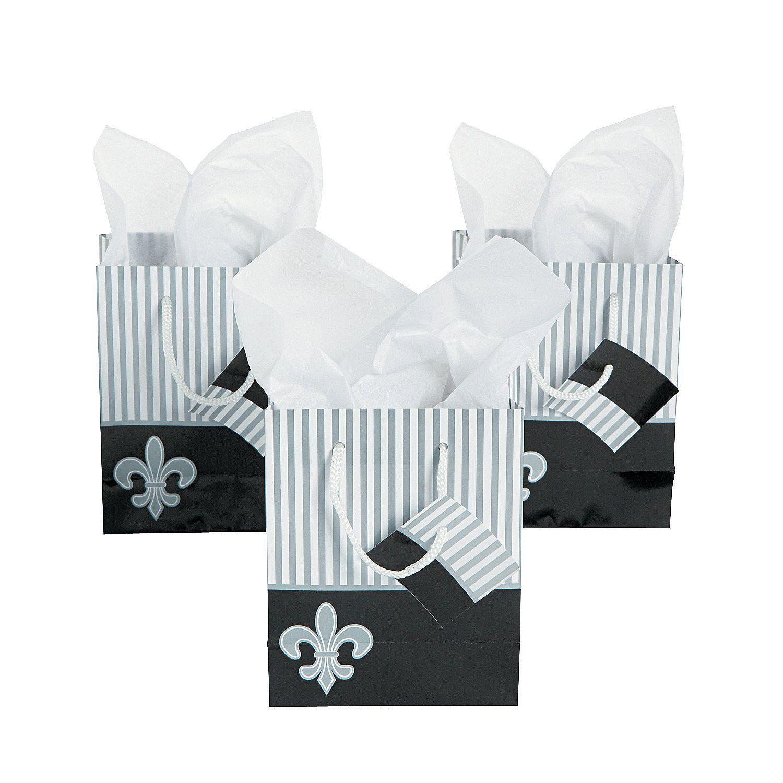 Fleur+De+Lis+Small+Gift+Bags+-+OrientalTrading.com | Holiday fun ...